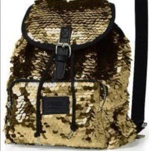 Victoria's Secret NWOT Mini Sequin Mini Backpack